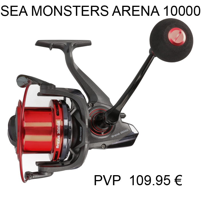 CARRETE SEA MONSTERS ARENA 10000